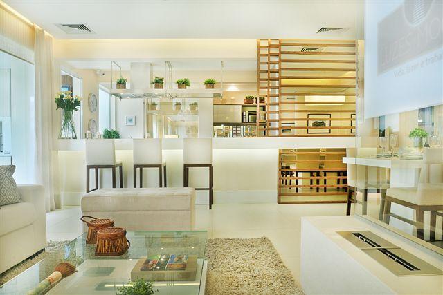 Linda decoração, tons claros - Apartamento Decorado 107m² - Cyrela #quitetefaria