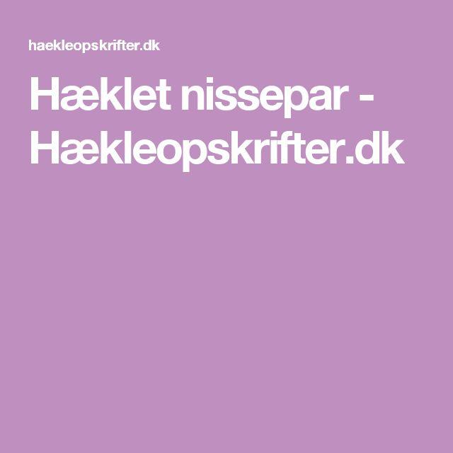 Hæklet nissepar - Hækleopskrifter.dk