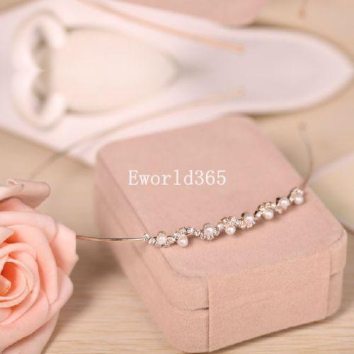 Crystal-Rhinestone-Pearl-Headband-Hair-Band-Bridal-Bridesmaid-Wedding-Prom