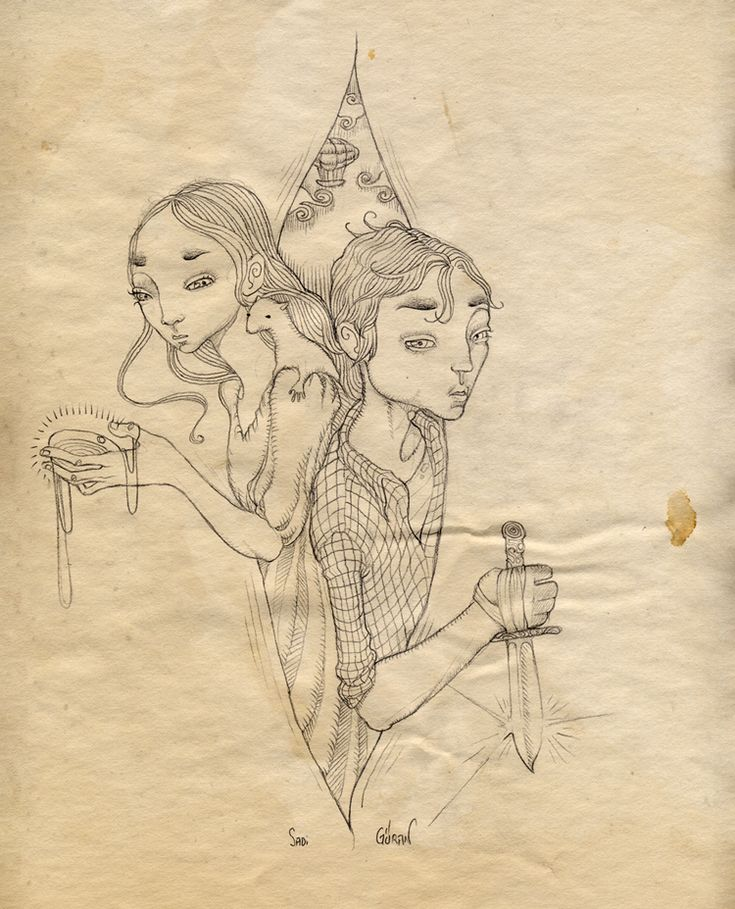 Illustration for His Dark Materials series