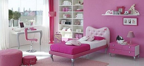 Κοριτσίστικο δωμάτιο: Όλα ροζ