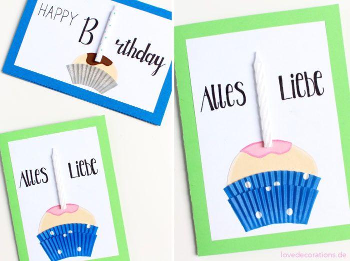 DIY Muffin Geburtstagskarte // DIY Muffin Birthday Card