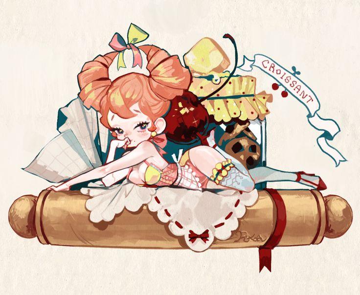 Pinup Arena • popobana: Croissant - pin up girl