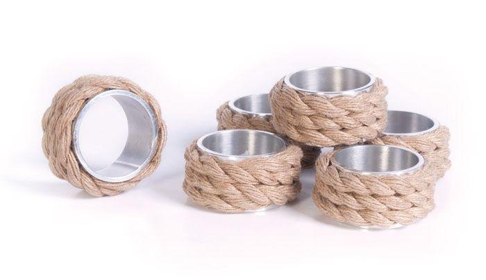 Set of Twelve Coastal Napkin Rings