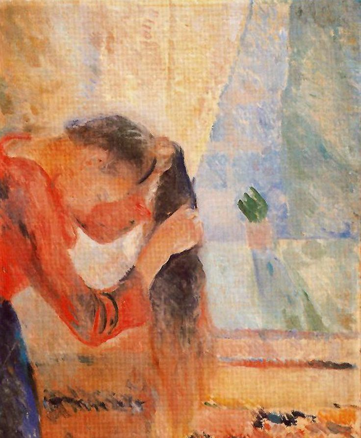 edvard munch(1863-1944), woman combing her hair, 1892. oil on canvas, 91.5 x 72.5 cm. bergen kunstmuseum, norway http://www.the-athenaeum.org/art/detail.php?ID=52280