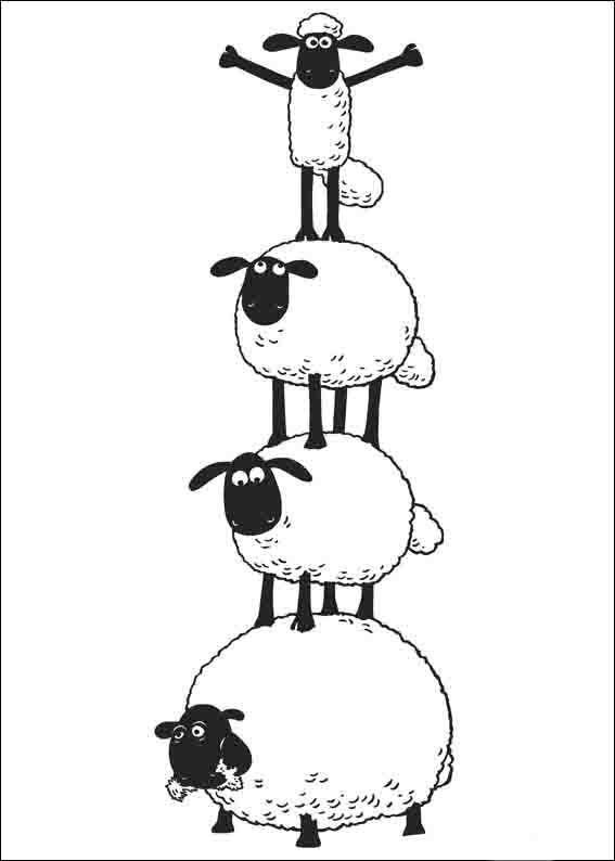 ausmalbilder shaun das schaf für kinder 3  ovejas para