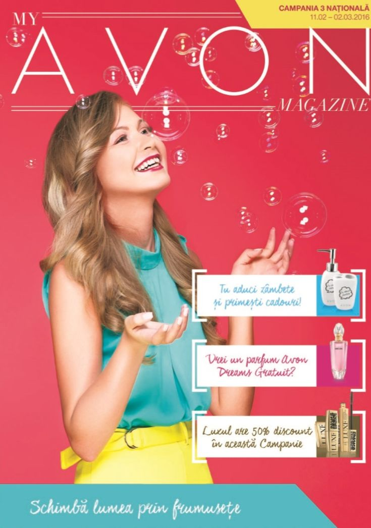 Catalog My Avon Magazine Campania 3 2016 cu noi oferte si Programe Motivationale Avon 2016 + detalii despre Suplimentul de Frumusete din Brosura 4!