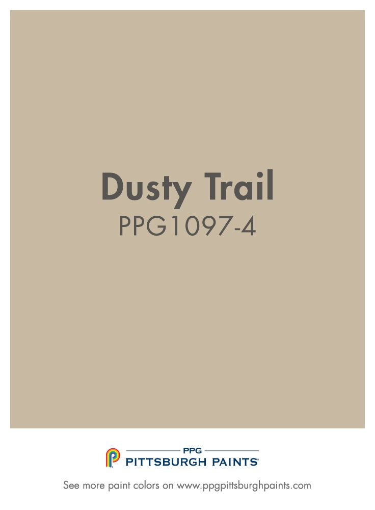 Dusty Trail is one of the most popular neutral beige paint colors in our entire PPG Pittsburgh Paints color palette!