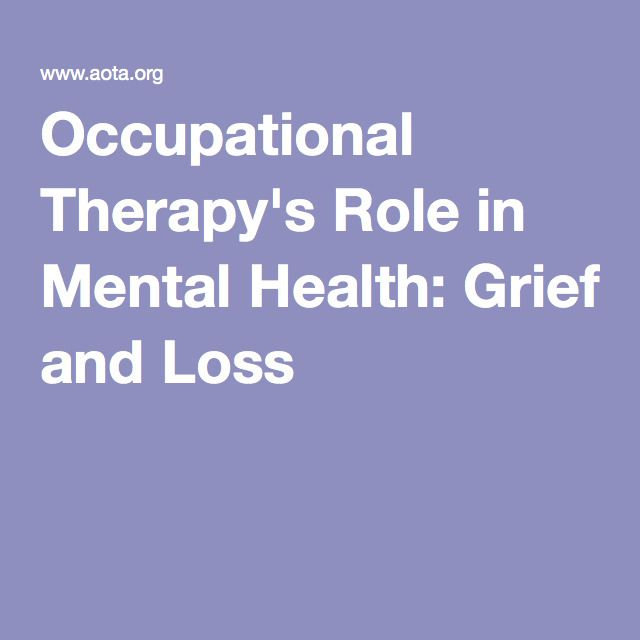how to become a mental health occupational therapist