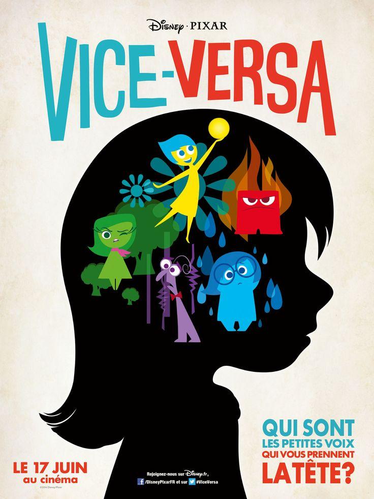 Vice Versa est un film de Pete Docter avec Amy Poehler, Bill Hader. Synopsis : Grandir n'est pas de tout repos, et la petite Riley ne fait pas exception à la règle. À cause du travail de son père, elle vient de quitter le Midwest