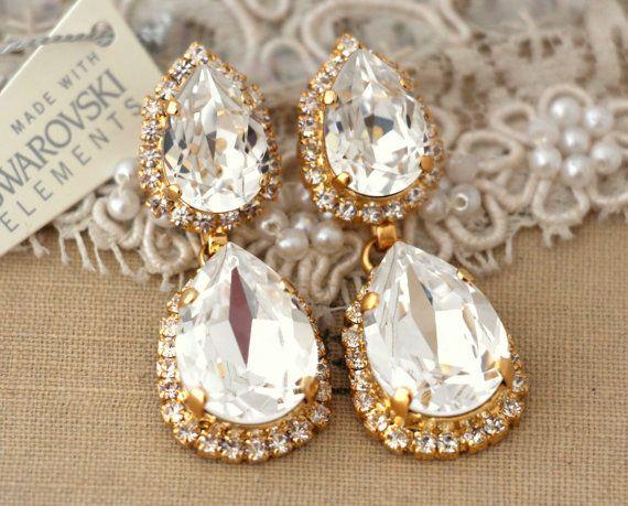Best 25+ Bridal chandelier earrings ideas on Pinterest | Blush ...