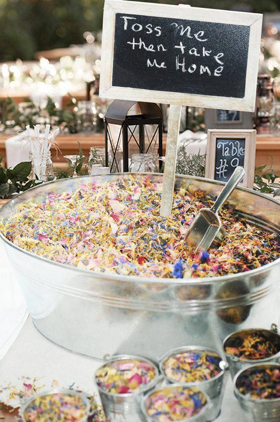 Wedding Confetti 100 150 Guests Biodegradable Wedding Toss Sustainable Wedding Flower Confetti
