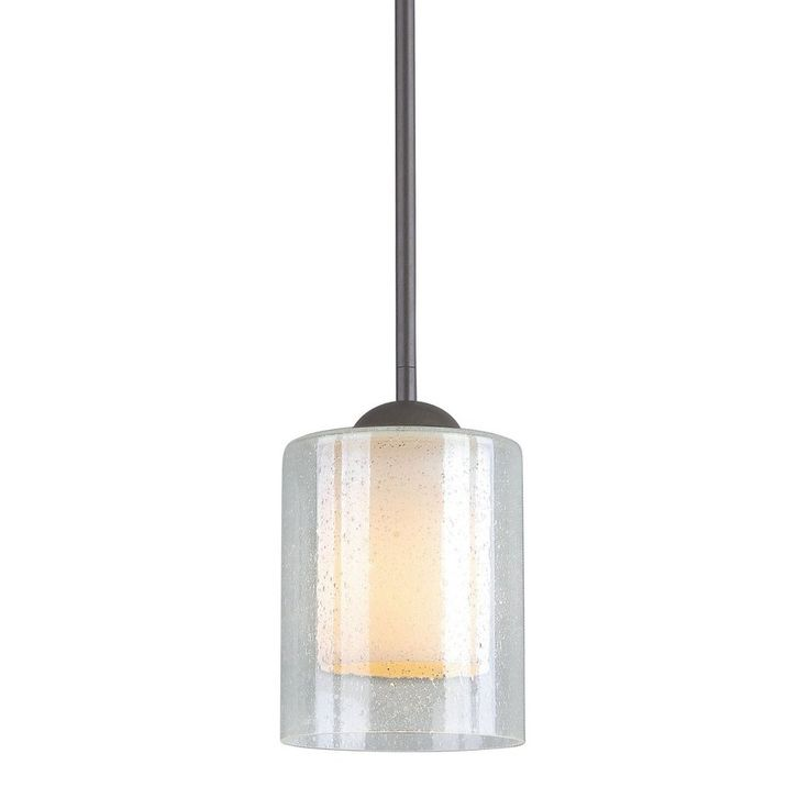 Shop Woodbridge Lighting Cosmo 5.5-in W Bronze Mini Pendant Light with Glass Shade at Lowes.com