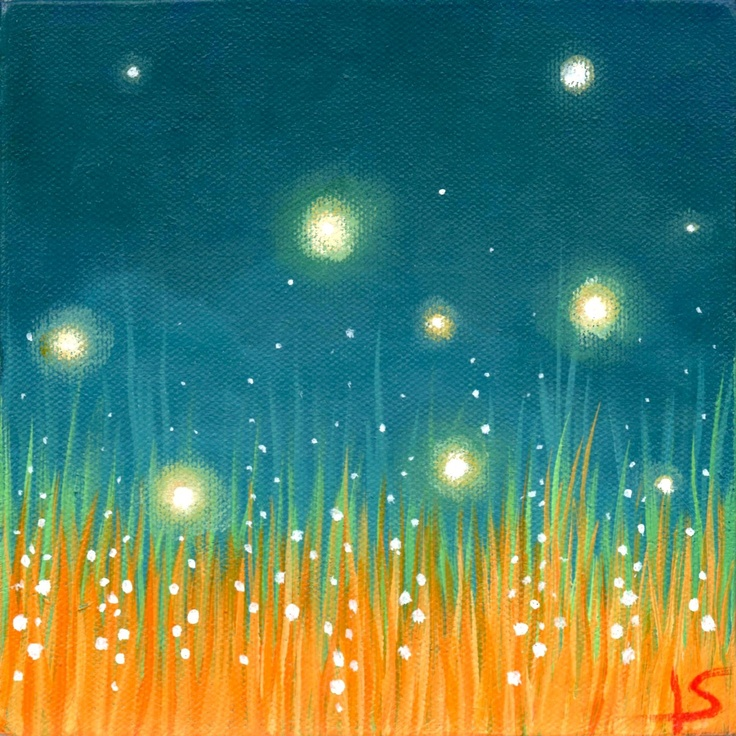 Fireflies Art Print - The Firefly Dance 5x7. $15.00, via Etsy.