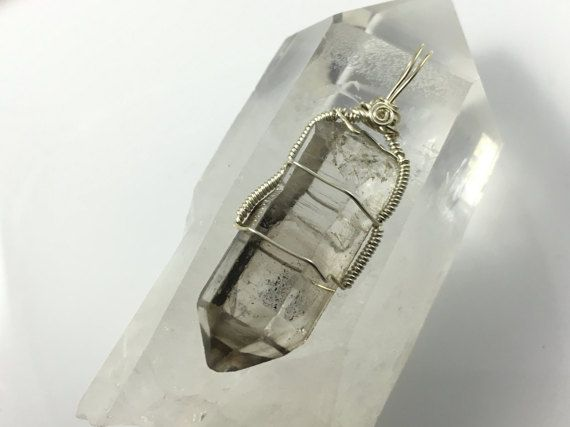 Smoky Quartz Crystal Pendant Wire Wrapped in by SacredGemstone