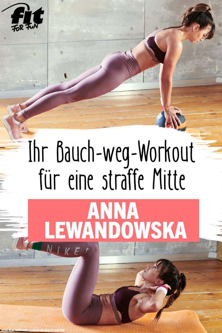 Workout: Bauch weg mit Anna Lewandowska