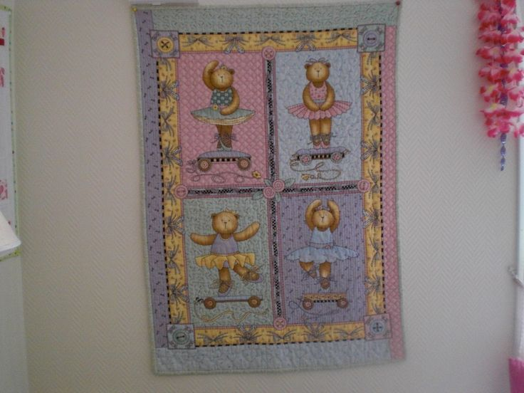 Handquilted panel, for my granddaughter <3