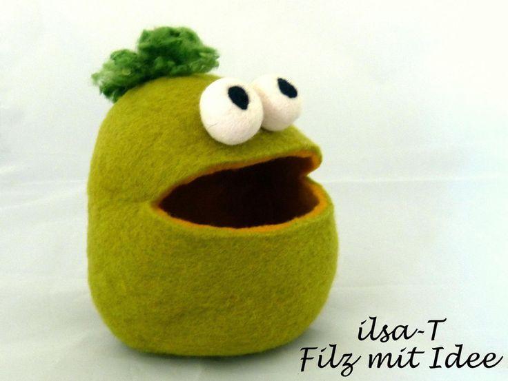 Utensilo Monster Allesfresser von ilsa-T - Filz mit Idee auf DaWanda.com