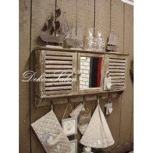 Wandschrank im Landhaus Stil - Vintage - Shabby Chic: Amazon.de: Küche & Haushalt