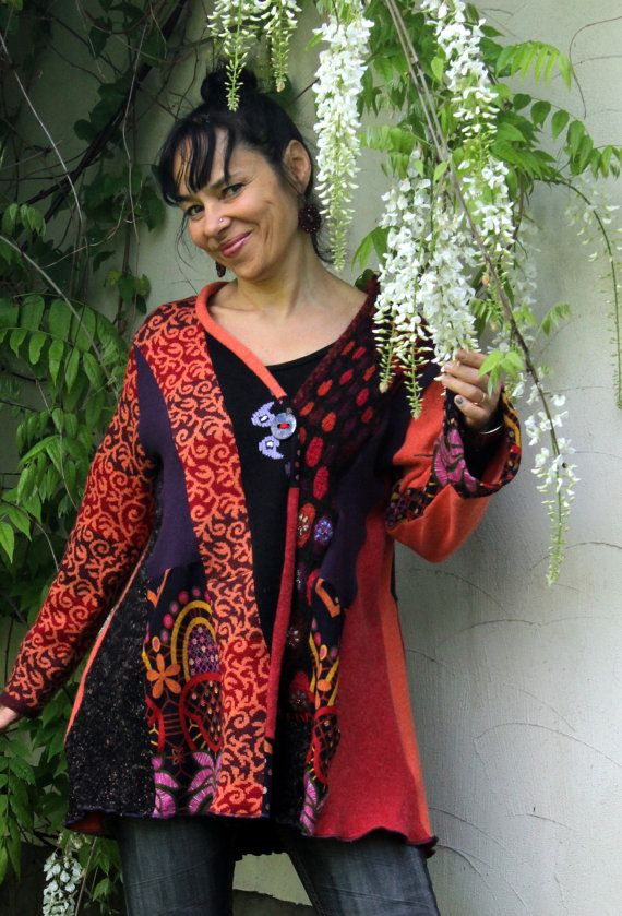 Recycled patchwork fantasy sweater by jamfashion on Etsy, $87.00