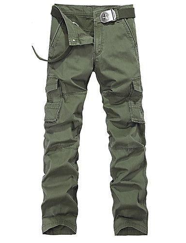 Větší velikosti Volné Rovné Kalhoty chinos Tepláky Muži Kalhoty-Jednobarevné Camuflaj Běžné/Denní Práce Sportovní Retro Šik ven Aktivní