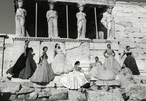 Dior models in Athens 1951.