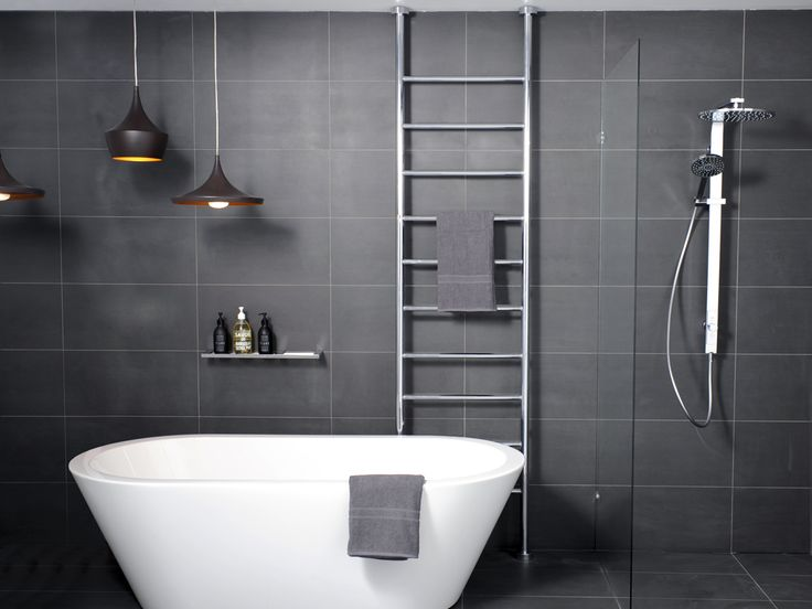 Hydrotherm- ladder series, allows wiring from floor or ceiling. Could be good in main bathroom. Electrician wouldn't have to pop any tiles and could wire it from inside the ceiling cavity. Available in 500mm, 600mm or 700mm width and max 3000mm high.
