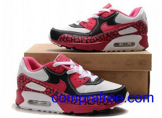 Comprar baratos mujer Nike Air Max 90 Zapatillas (color:blanco,rojo,negro) en linea en Espana.