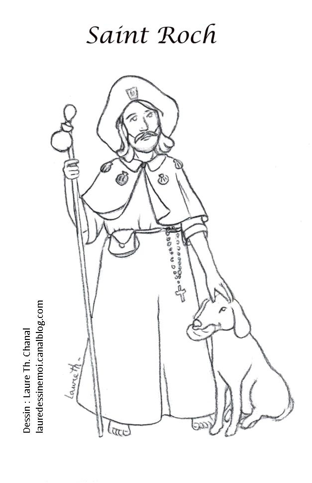 saint roch catholic coloring page