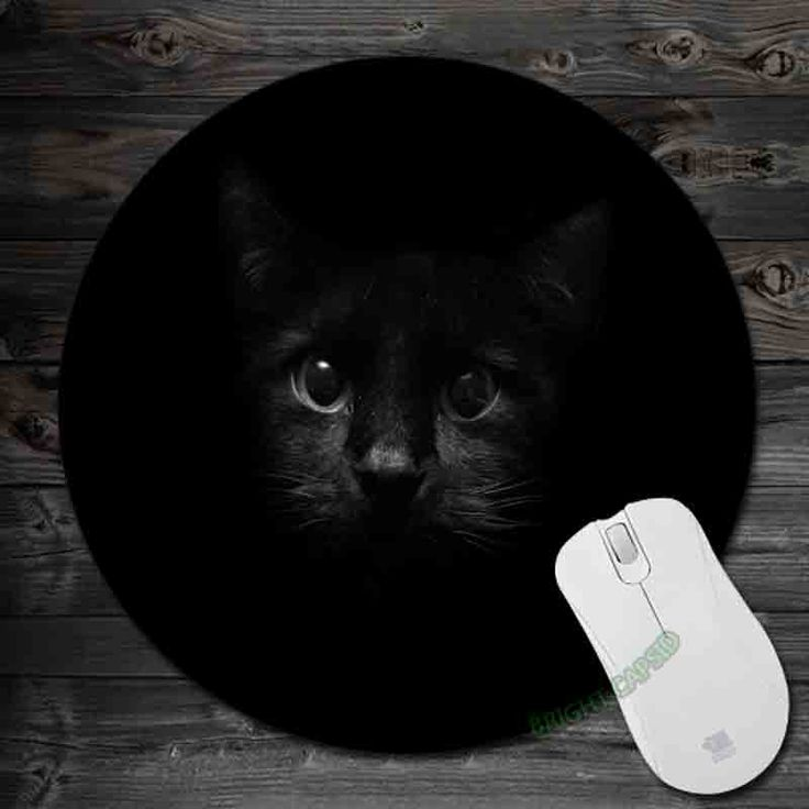 Black Background Cats 2016!Art Mouse Pad Anti-Slip Round Mousepad Gift Gaming Speed Mice Mats