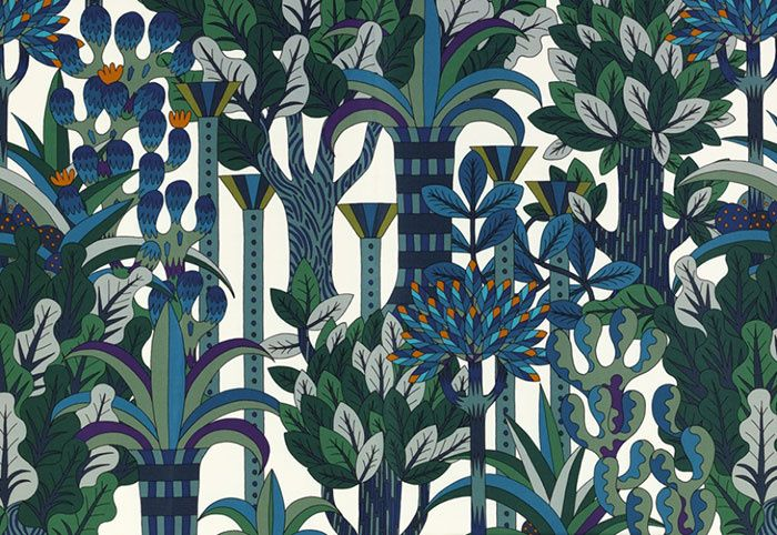 Tissu d'ameublement Jardin d'Osier, Hermès (2014) - Design Pierre Marie