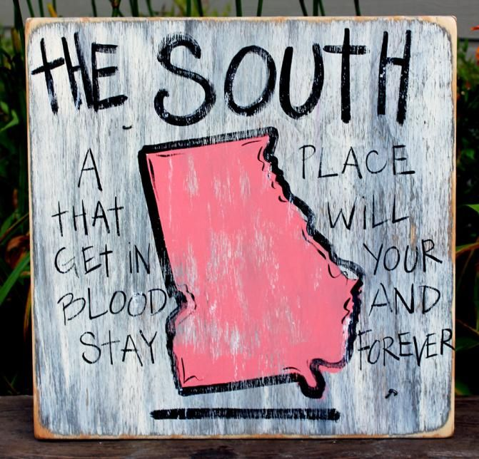 #Georgia Hand Painted Sign from Simply Southern Signs and Bourbon & Boots