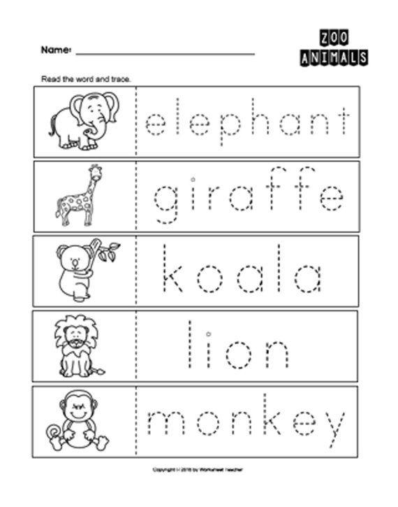 25 Zoo Animals Preschool Curriculum Activities Preschool B W