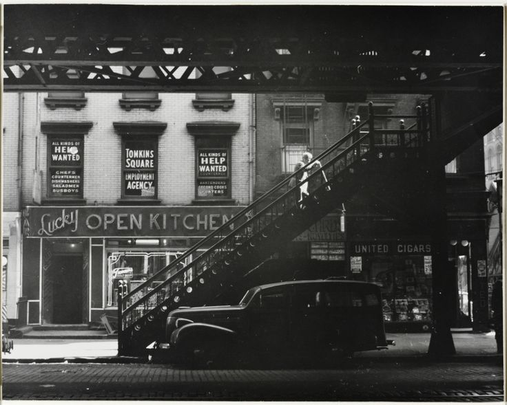 Third Avenue, New York City (Under the Elevated), 1948 © Godfrey B. Frankel