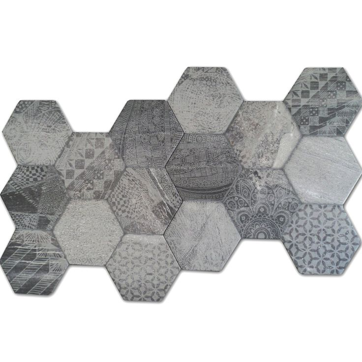 Bodenfliesen Hexagon Hologram Optik 45x45cm