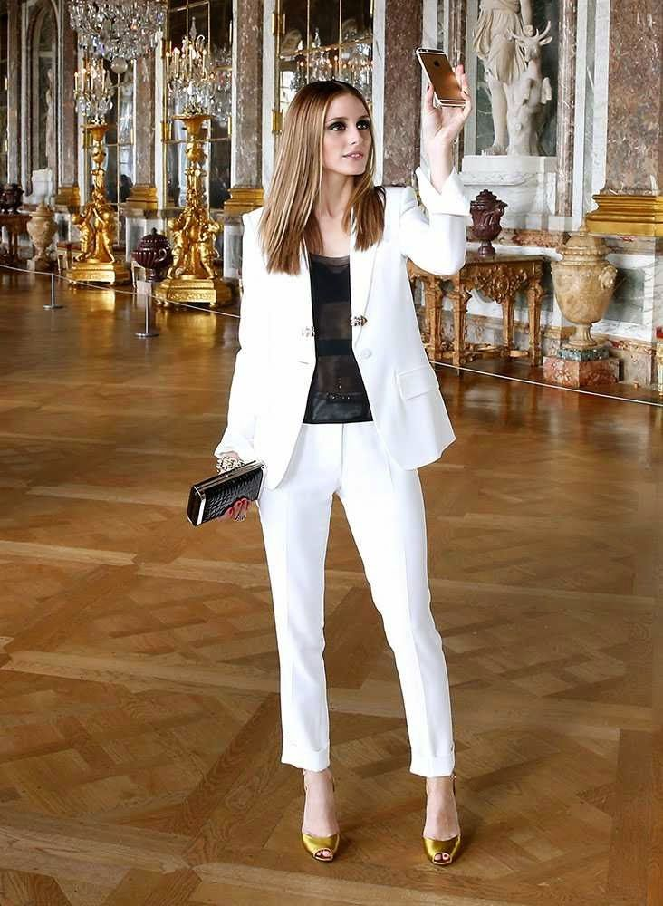 The Olivia Palermo Lookbook : Olivia Palermo takes a selfie in the Palace of Versailles.