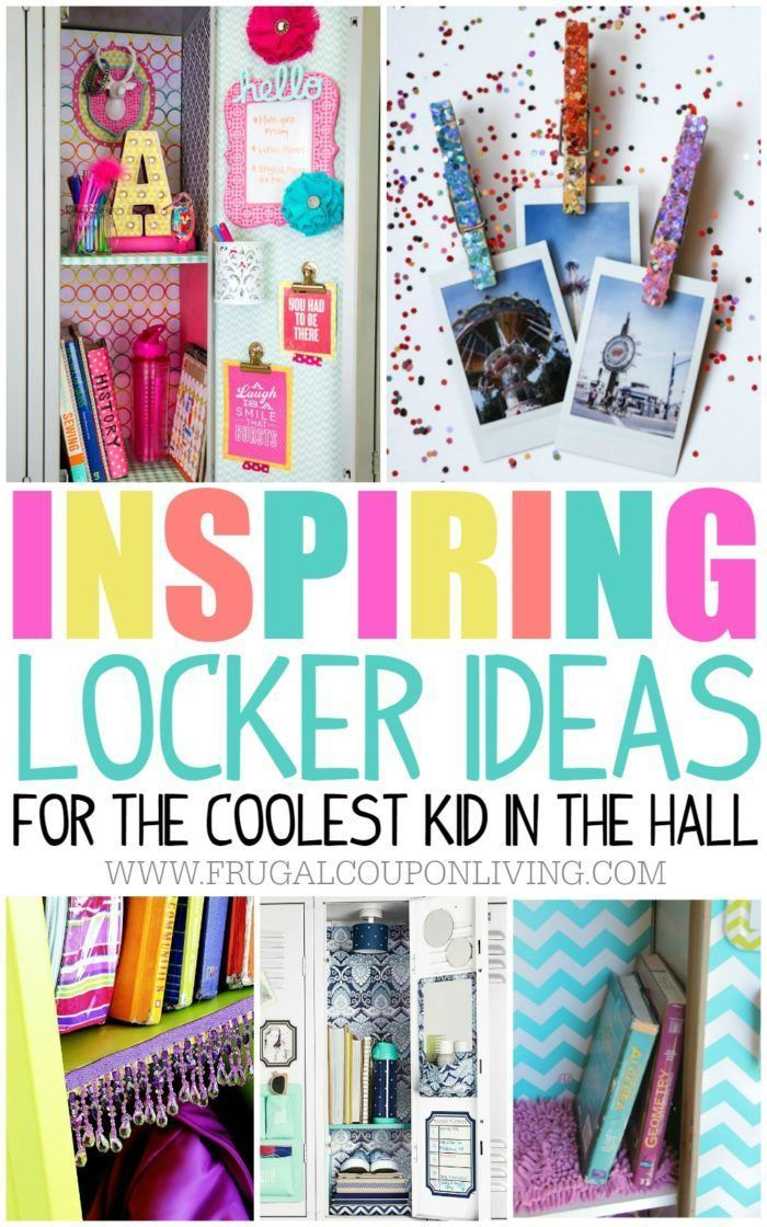 Locker Ideas For The Coolest Kid In The Hall School Locker - Cute diy school locker ideas