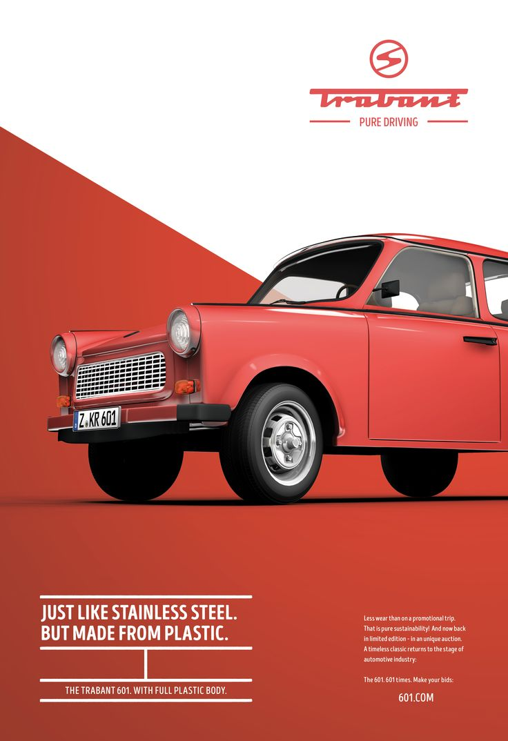 Poster design jpg - Brilliant Ads Poke Fun At The Trabant
