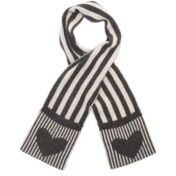 Accessorize Vertical Stripe And Heart Pocket Scarf ($7.99) ❤ liked on Polyvore featuring accessories, scarves, grey, gray scarves, accessorize scarves, grey scarves, gray shawl and grey shawl