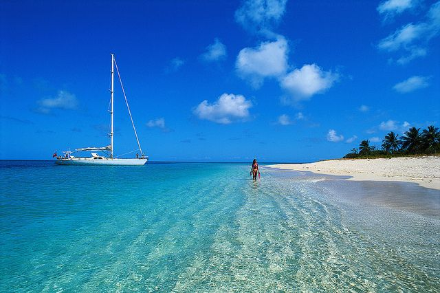 Linda embarcação. Ilhas Virgens Americanas. USA. Caribe.