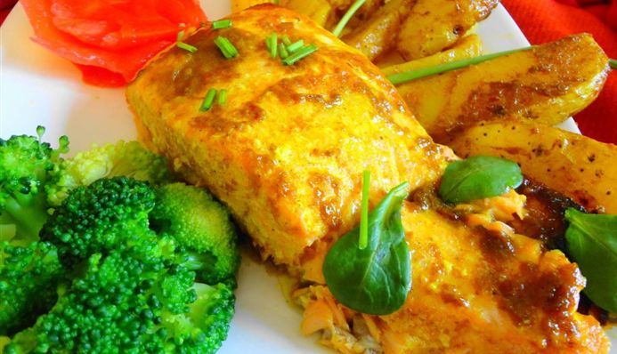 Surinaams eten – Zalm Masala Trafasie (slank, gezond, calorie- en vetarm, en toch lekker)