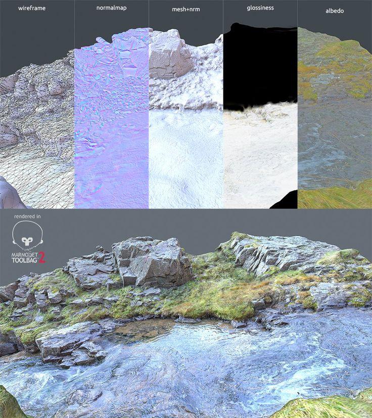 River scan, Romain Rouffet on ArtStation at https://www.artstation.com/artwork/river-scan