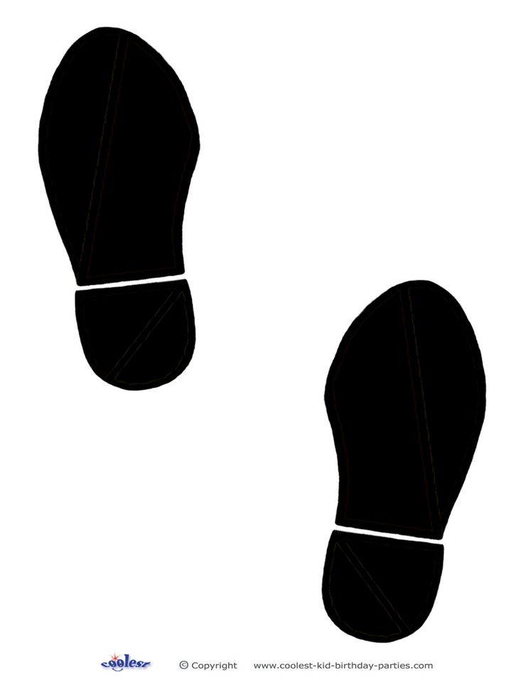 A cool idea is to put footprints leading to the party area. For these footprints just print out as many as you need and then glue or tape them to the ...