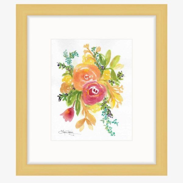 Framed Original Watercolor Intuition