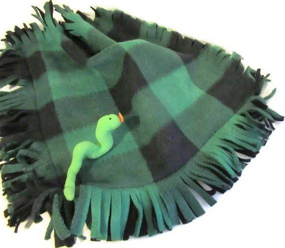 Buffalo Check Pets Blankets Green Black Cats Dogs Stuffed