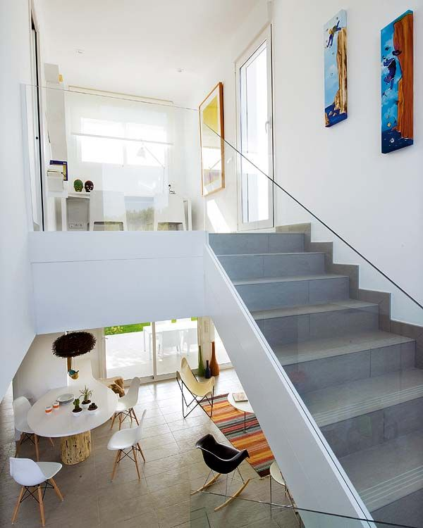 Eames Eiffel and Rocking Chairs. Beautiful Staircase