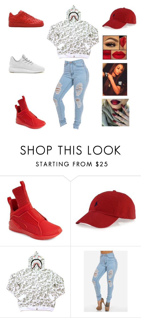 """"" by aleisharodriguez ❤ liked on Polyvore featuring Puma, Polo Ralph Lauren, A BATHING APE, adidas Originals and NIKE"