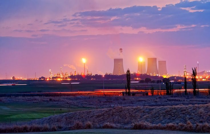 SASOL crude oil refinery in Secunda - South Africa