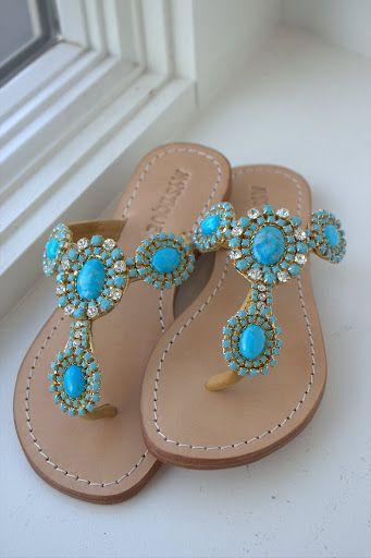 Turquoise Mystique Sandals-I love mystique sandals :) These are beautiful!