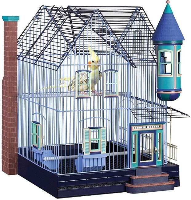 Parakeet Cockatiel Home Featherstone Victorian Removable Bottom Grille Pet House #PrevuePetProductsn #Cage #Bird #BirdCage #Parakeet #Pet